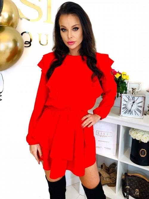 Sukienka LORETT- czerwień