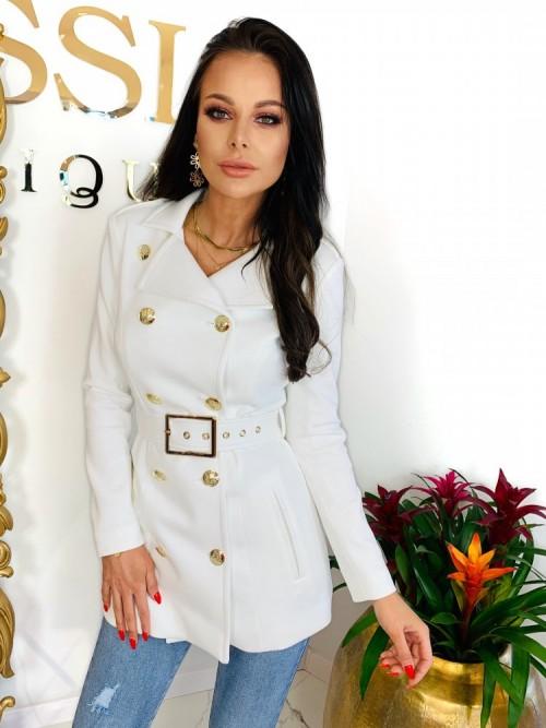 Płaszc TROY- biel