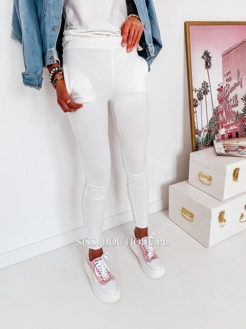Spodnie LARA- biel