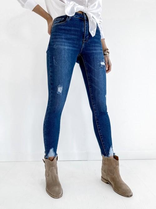 Klasyczne Spodnie Jeansowe z dziurami JOEY
