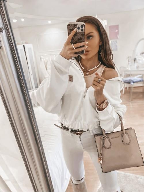 Bluza ELISA biała z zamkiem