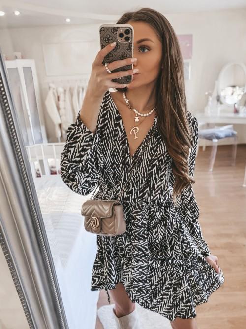 Sukienka print zebry JEREMI