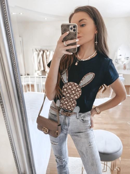 Tshirt BUNNY CZARNY