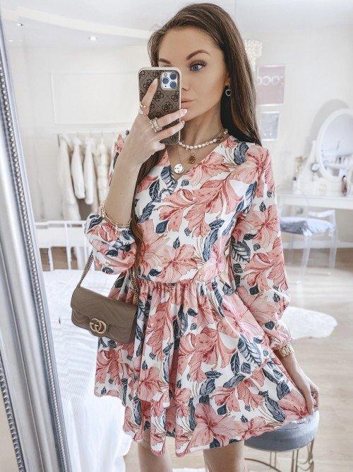 Sukienka LANA w różowy kwiatowy print