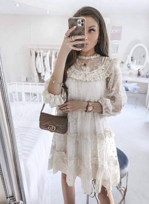 Sukienka MADISON koronkowa w stylu boho