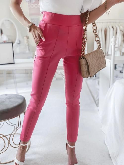 Spodnie TROY woskowane MALINOWE