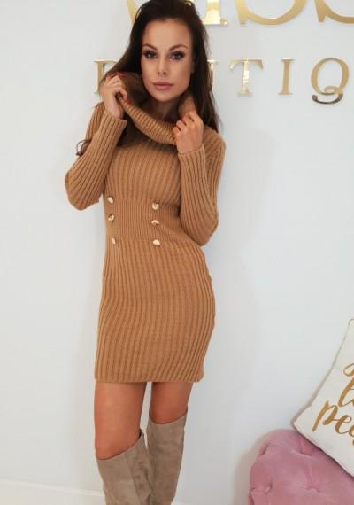 Sukienka SHANNON- brąz