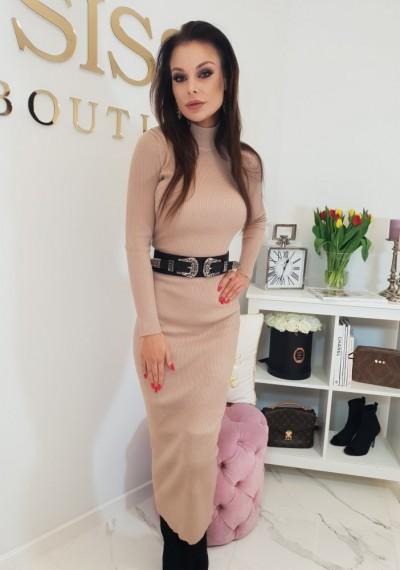 Sukienka YASMINE- beżowa 1