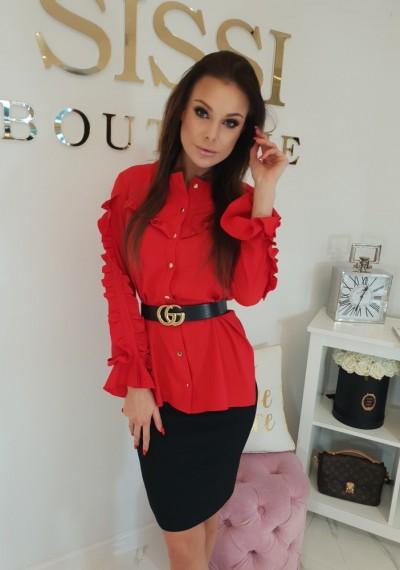 Koszula ALICE- czerwona