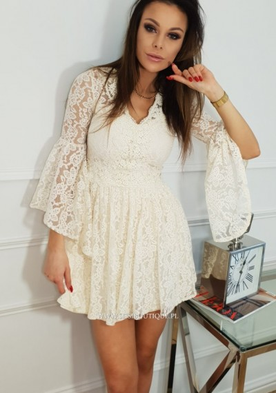Sukienka CELIA- ecru