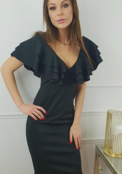 Sukienka CHANTELLE- czarna