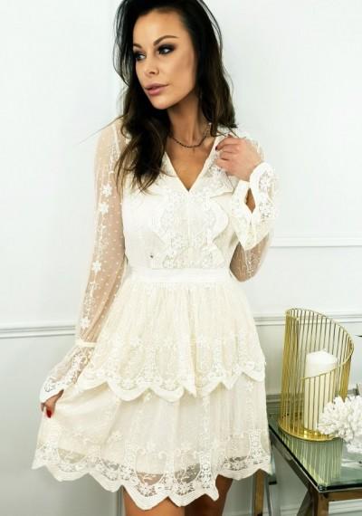 Sukienka KIARA- ecru