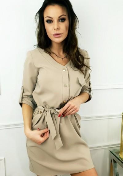 Sukienka ELENA- beż