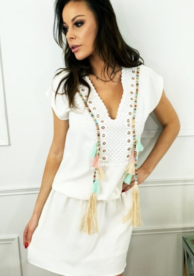 Sukienka CARMEN- biała