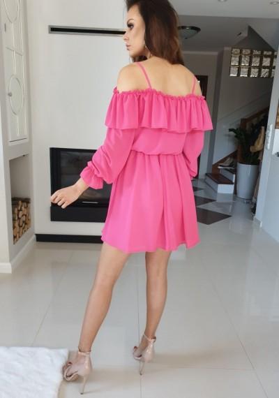 Sukienka SHINE- róż 3