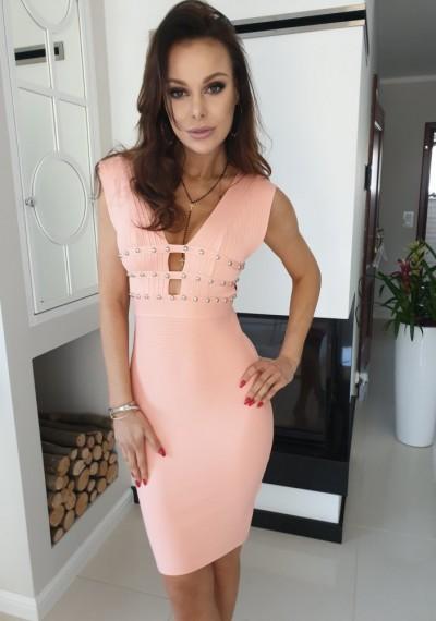 Sukienka KIM- brzoskwinia