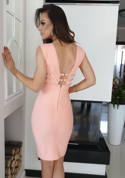 Sukienka KIM- brzoskwinia 1