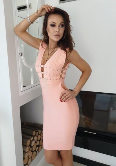 Sukienka KIM- brzoskwinia 2