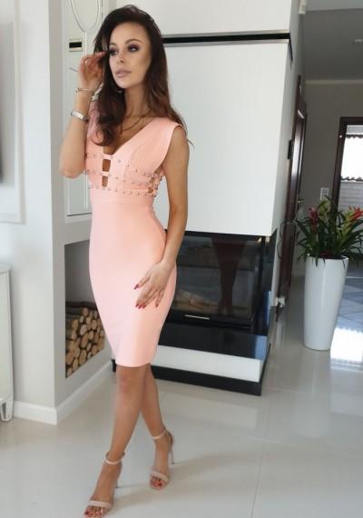 Sukienka KIM- brzoskwinia 4