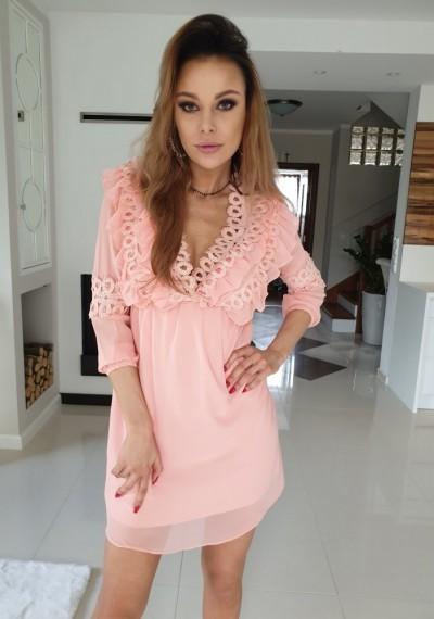Sukienka JANE- brzoskwinia
