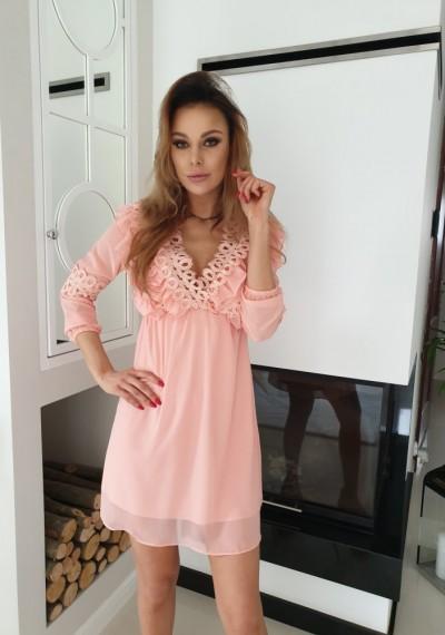 Sukienka JANE- brzoskwinia 3