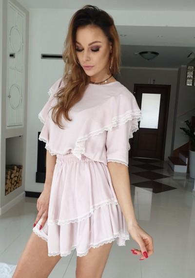 Sukienka MISTY- róż