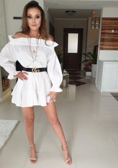 Sukienka BELL- biel