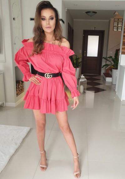 Sukienka BELL-róż