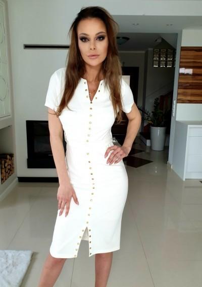 Sukienka DANIELL- biel