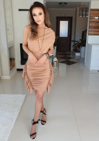 Sukienka GABRIELLE- brąz