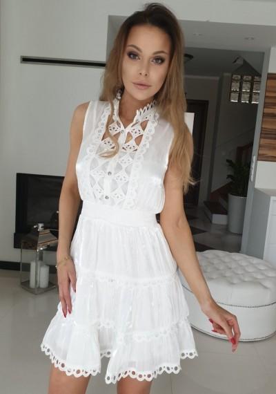 Sukienka POLLY- biel
