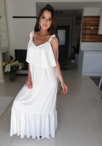 Sukienka EREZA- biel