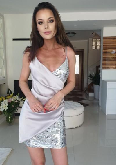 Sukienka CASTILLO SILVER