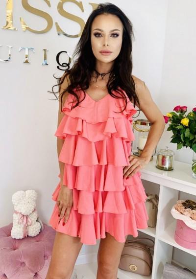 Sukienka RITA-koral