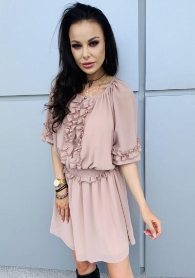 Sukienka NICOLE- beż