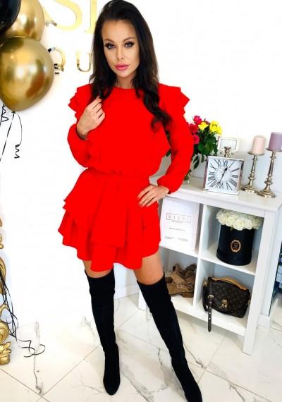 Sukienka LORETT- czerwień 3