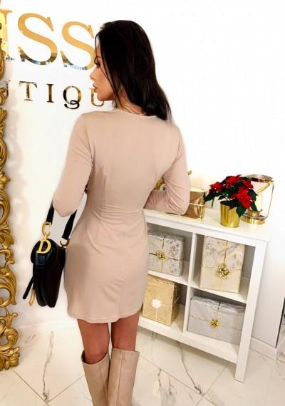 Sukienka CHARLOTTE- beż 1