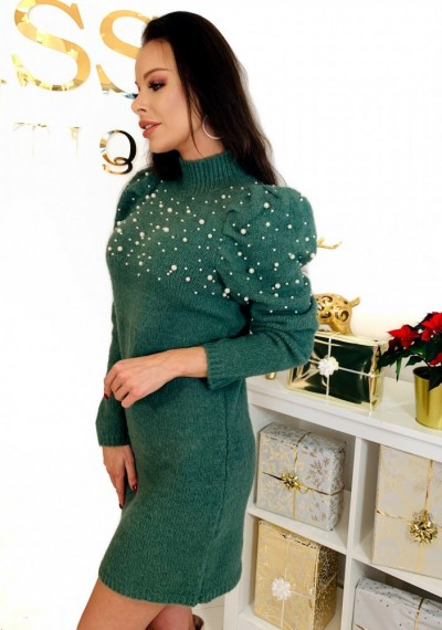 Sukienka PEARL- khaki 4