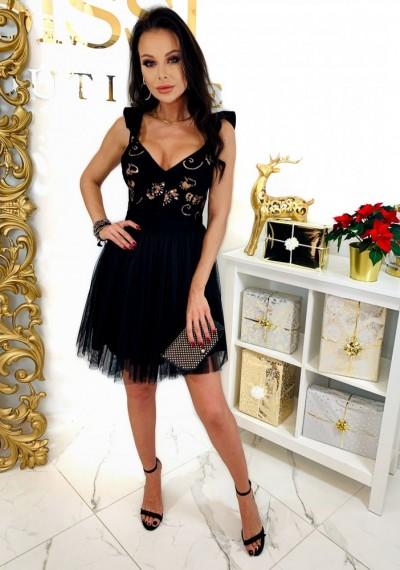 Czarna Sukienka QUEEN 4