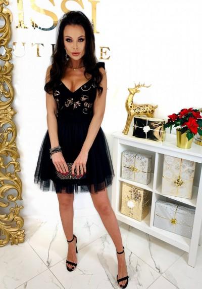 Czarna Sukienka QUEEN 7