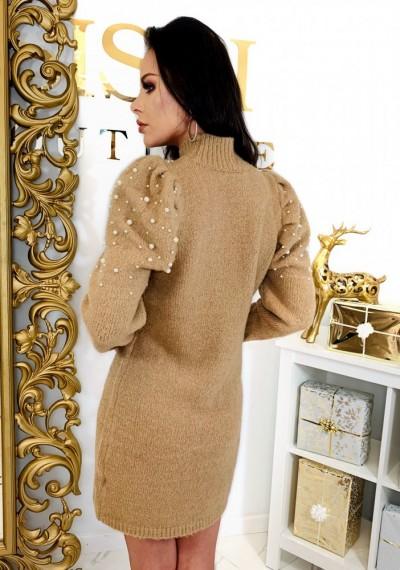 Sukienka PEARL- brąz 1