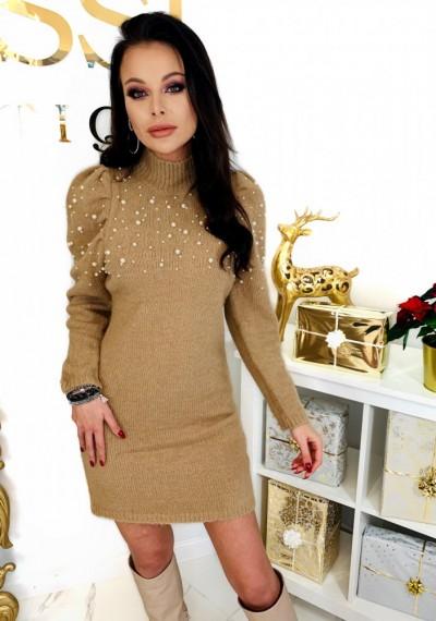 Sukienka PEARL- brąz 2