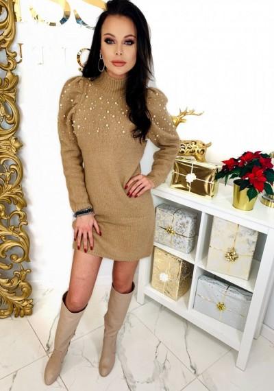 Sukienka PEARL- brąz 3