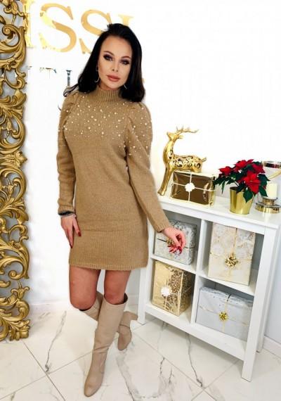 Sukienka PEARL- brąz 5