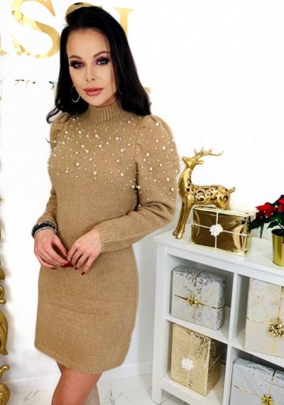 Sukienka PEARL- brąz 6