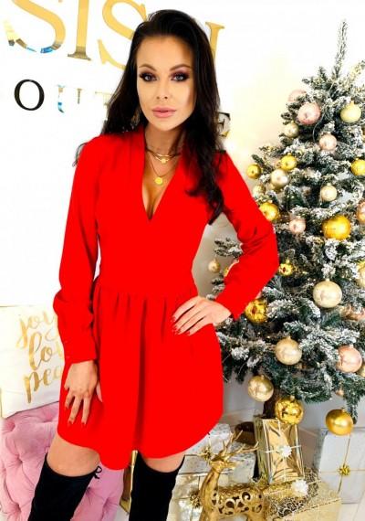 Sukienka BELLA- czerwona