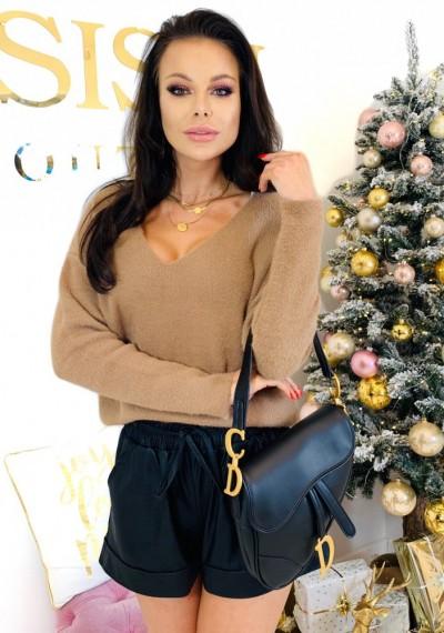 Sweter CHERYL- brąz