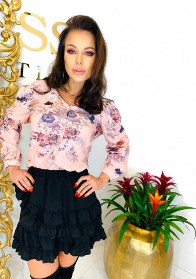 Koszula w kwiaty CELINE PINK 1