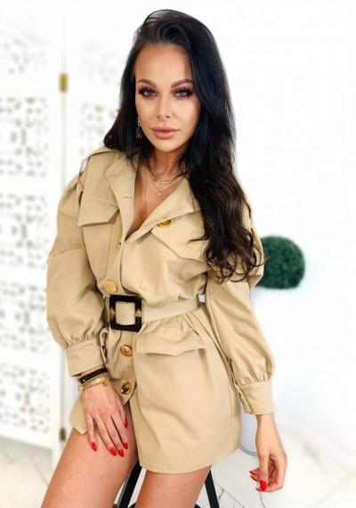 Sukienka/Płaszcz TANYA- beż 1