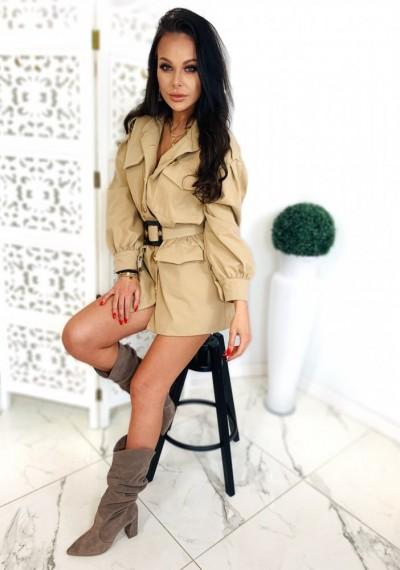 Sukienka/Płaszcz TANYA- beż 2